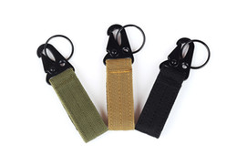Wholesale Hanging Keys Wall - Military Nylon Key Hook Webbing Molle Buckle Outdoor Hanging Belt Carabiner Clip