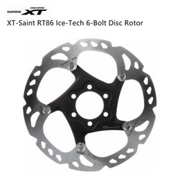 Wholesale Rotor Bolts - SHIMANO XT RT86 6 7 8 Inch 160mm 180mm 203mm Brake Disc 6-Bolts Rotor Parts Bicycle Accessories ICE-TECH System
