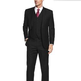 Wholesale Good Dress Pants - Solid color men suits new design groom wedding suits tuxedos good quality best man party feast dress suits(jacket+pants+vest)