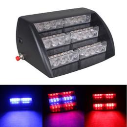 Wholesale 18 Led Blue Strobe Light - fireman led strobe light 18 Amber White LED 3 Mode Interior Emergency Deck Dash Flash Strobe Lights