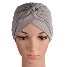 fios de confecção de malhas extravagantes Desconto Turbantes Mujer Cappelli Turbante Chapéu de Turbante Indiano Turbante Headwrap Gorros Tira de Enrolador de Cabeça Cloche Bandanas Chapéus de Mulher HJIA1114