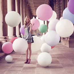 Wholesale 36 inch ball - 36 Inch Latex Balloons Wedding Decoration Birthday Party Christmas Decorative Novelty Kids Children Toy Ball Gifts Gold Silver Clear