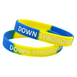 Wholesale Daily Wear - 100PCS Lot Down Syndrome Awareness Silicone Wristband, Carry This Message As A Reminder in Daily Life By Wear This Bracelet