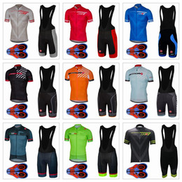Wholesale Bib Short Mtb - 2017 Cycling Short Jerseys Set Men Summer Style Jerseys + 9D Gel Pad Bib Shorts Quick Dry Bike Wear MTB Ropa Ciclismo Size XS-4XL