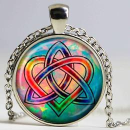 Wholesale Celtic Pendant Silver Knot - Celtic Knot necklace Celtic Knot pendant Celtic Knot jewelry glass Cabochon Necklace