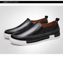 Wholesale Man British Boots - 2016 autumn new high-quality men's casual British breathable round round fashion sports shoes hot sale