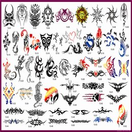 Wholesale Temporary Phoenix Tattoo Design - Wholesale- Free Shipping Golden Phoenix Temporary Airbrush Tattoo Stencil Book For Spray Body Paint Makeup Booket 13 53 Mid Size Designs