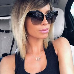 Wholesale Golden Trims - oversized sunglasses for women new fashion big frame sunglasses personalized comfortable mirror half-frame trimming sunglasses High quality