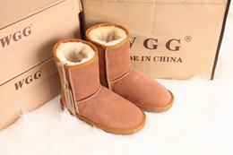 Wholesale Womens Grey Suede Boots - Free shipping 2017 High Quality WGG Women's Classic tall Boots Womens boots Snow boots Winter leather boot US SIZE 35-44
