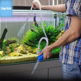 Wholesale Vacuum Cleaner Pump - Length 103cm Aquarium Manual Cleaner Tool Siphon Gravel Fish Tank Suction Pipe Filter Vacuum Water Change Pump Tools V4201