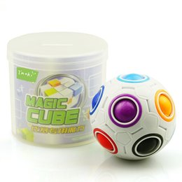 Wholesale Cheap Puzzle Cubes - Rainbow Magic Balls Fidget Football Cubes Fun Creative Speed Spherical Puzzles For Kids Adults Decompression Toys Gifts Cheap Free DHL 261