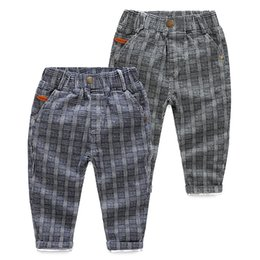 Wholesale winter trousers for boys - Brand Boy pant Plaid Brushed casual Pencil pants Trousers for Children Gentle 100% cotton Boys clothing Wholesale 2017 Autumn Winter