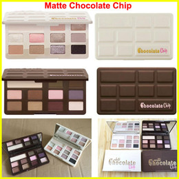 Wholesale Color Chips - High-quality Makeup Chocolate Chip Eye Shadow Palette MATTE or WHITE 11 Color limited edition Chocolate Eyeshadow Palette free shipping