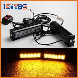 Wholesale Auto Police - 2x6LED Car Police Strobe Flash Light Modes Auto Warning Light 36W High Power Caution Lamp Free Shipping
