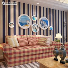 Wholesale Roll Striped Wallpaper - Wholesale- New pattern striped wallpaper,Blue and white and Pink stripe wall paper for living room bedding room