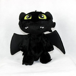Wholesale toothless plush stuffed animal - 30cm Night Fury Plush Toy 20PCS How to Train Your Dragon Toothless Night Fury Stuffed Animal Plush Toy night fury plush dragon toys
