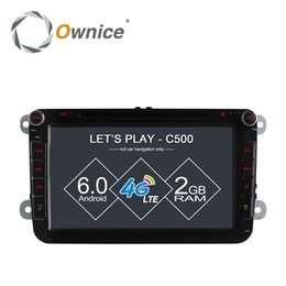 "Wholesale French Tv Networks - 8"" Ownice Android 6.0 Quad Core Car DVD GPS for Volkswagen golf 4 golf 5 6 touran passat B6 sharan jetta caddy 4G LTE Network"
