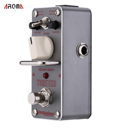 Wholesale Analog Guitar Effects - New Arrival! AROMA ATR-3 Twister Analog Flanger Electric Guitar Effect Pedal Mini Single Guitarra Effect Pedal with True Bypass