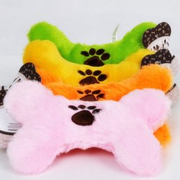 Wholesale Toy Bones For Dogs - Colorful Bone Shape Puppy Dog Chew Squeaker Squeaky Plush Sound For Dog Sound Toy Teethers With Cute Paw Mix Order 30PCS LOT