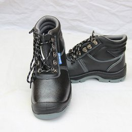 Wholesale Anti Puncture - Men Boots Premium embossed Cowhide Work Shoes Safety Protective Shoe Anti smashing Anti puncture Ventilation Wear-resisting