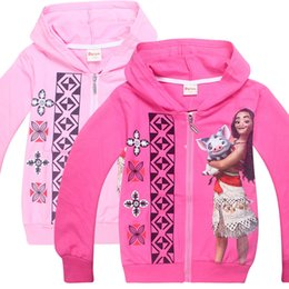 Wholesale Girls Coats Kids Hooded Sweater - moana baby kids Children's wear sweater coat moana New girls in spring and Autumn Cardigan coat