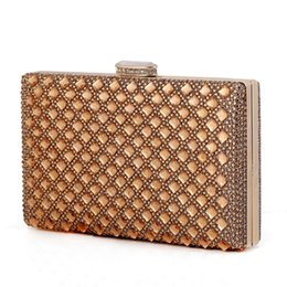 Wholesale Lace Satchel - Wholesale- new 2016 gold Clutch Women Evening bags Ladies Crystal Day Clutches Wallet Wedding Purse Party Banquet bag Black Gold Silver