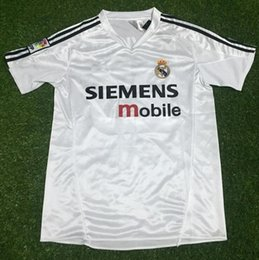 803faadd00 raul soccer jersey Coupons - real madrid soccer jersey 2004 2005 retro  vintage classic ZIDANE BECKHAM