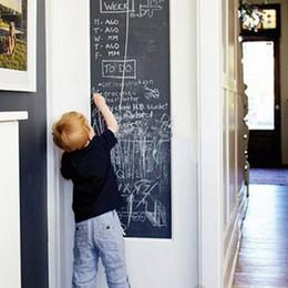 Pizarra adhesiva online-Vinilo pizarra pegatinas de pared pizarra extraíble pizarra autoadhesiva dibujar pegatinas murales arte pizarra regalo para niños nuevo