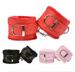 Wholesale Couples Costumes Adult - Adult Game Handcuffs PU Leather Restraints Bondage Cuffs Bdsm Fetish Slave Roleplay Costume Tools Sex Toys For Couples 3 Colors