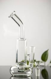 Chuveiros verdes on-line-Mais novo Barato Espessura Redonda de Fundo de Vidro Tubos de Água Cabeça de Chuveiro Verde Perc Recycler Plataformas de Petróleo Bongos de Fumar cachimbos de Água Com Bacia
