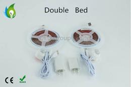 luces de neón blancas rollo Rebajas 2016 nuevo diseño debajo de la luz de la cama luz de tira llevada elegante con el sensor de movimiento el 1.2m One Roll