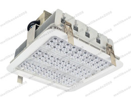 Wholesale Led Lighting For High Bay - Explosion proof canopy lights finned radiator 100W 150W 180W LED high bay light for GAS Station lights warehouse lamp 5 years warranty MYY