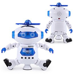 Wholesale Electronic Robot Toys For Wholesale - New toys Dancing Robert Electronic Toys With Music And Lightening Best Gift For Kids Model Toy Fast ship out