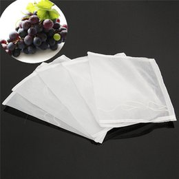 Wholesale Nylon Tea Bags - 5Pcs 160 Mesh Nylon Strainer Filter Bag for Nut Milk Hops Tea Brewing Food Filtration House Home Wine Beer Making Bar Tool