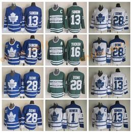 Wholesale Brown Silk Tie - Toronto Maple Leafs Throwback Hockey Jerseys 13 Mats Sundin 28 Tie Domi 1 Johnny Bower 16 Darcy Tucker Vintage Classic Blue White Green