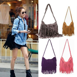 Wholesale Wholesale Messenger Tote Bags - Wholesale-New 2015 2016 New Fashion Fringed Tassel Female Shoulder Bag Women's Messenger Handbags Lady Cross Tote Bags Bestselling