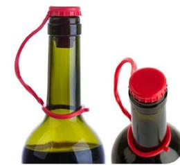 Nueva botella de silicona suave tapón tapa tapón Anti perdió hebilla colgando tipo condimento tapas de botellas de vino tinto botella de vino desde fabricantes