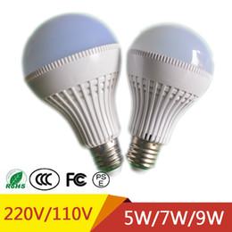 Wholesale Volt Outdoor Lighting - NEW LED Blub E27 B22 Led 110V Lamp Lights E27 3W 5W 7W 9W Lampade LEDs 110 Volt Led Bulb for Motor Home Marine Outdoor Lighting