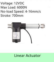 Canada Capacité de charge élevée 600KGS / 6000N 12volt DC 28 pouces / 700mm course vitesse 4mm / s actionneur linéaire électrique de haute qualité Offre