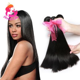 "Wholesale Cheap Human Hair Weave Online - Brazilian Virgin Hair 4 Bundles Straight Human Hair Extensions 8-28"" Inch Brazilian Straight Weave Cheap Weave Online Straight Bundles Deals"