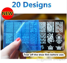 Wholesale Pattern Stamp Tool - 21 Patterns Stainless Steel Nail Art Stamping Plates Nail Seal Manicure Polaco Printer Tool Templates Nail Stamp Stencils
