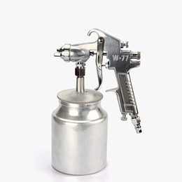 Wholesale hot air gun nozzle - hot selling W-77S pneumatic paint spray gun 2.0mm nozzle high atomization air spraying tools furniture woodworking car coating free shipping