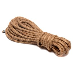 Wholesale Cotton Sex Ropes - Shibari Japanese Kinbaku Bondage Sex Hemp Rope Women Slave Role Restraint Art Polyester cotton thick rope Free shipping