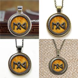 Wholesale Odin Pendant - 10pcs Norse Gods Loki Freya Odin and Thor Written in Rune Pendant V3 Necklace keyring bookmark cufflink earring bracelet
