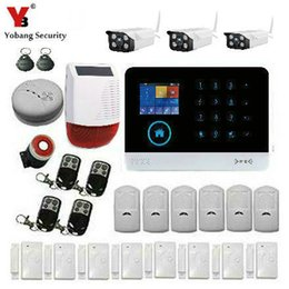 Wholesale Alarm Systems Wifi - Wholesale- YobangSecurity Intruder Alarm System Wifi GSM GPRS Home Security System Burglar Alarm With Solar Power Siren Outdoor IP Camera