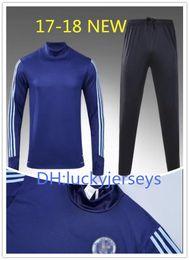Wholesale Track Suit Pants Men - 2017 Full Zipper MLS Jacket Tracksuit New York City Pirlo Track suit NYC Soccer Jogging Football Tops Coat Pants Men Adults Training Suit