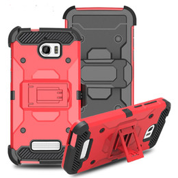 Wholesale Grand Cases - Heavy Duty Armor Hard Case For LG K20 plus Stylo3 Aristo 2 X210 ZTE Grand X4 Phone Case + Belt Clip Holster Kickstand TPU+PC Shockproof