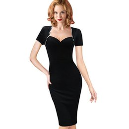 4c864f239c3 Vintage Dresses Women Elegant Business Work Wear Formal Pencil Dress Summer  Office Women Career Dresses Ladies hot wholesale