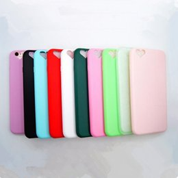 Wholesale Transparent Frosted Pc Tpu - Cell Phone Cases for iphone 7 7plus soft cases Candy Heart design Soft TPU Silicone frosting PC iphone 6 6 plus back cover