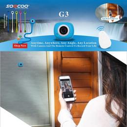 tf led écran Promotion Ordinateur de poche Auto Mini poche Super Mini caméra d'action WiFi Caméra d'action HD 1080p 8.0MP Cam Télécommande Télécommande Caméra de sport DV SOOCOO G3